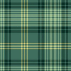 Gingerbread tartan - green variant