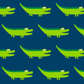 Friendly Crocodile Darkblue