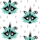 Punk raccoon blue