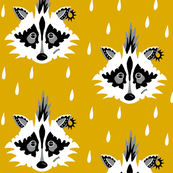 Punk raccoon mustard