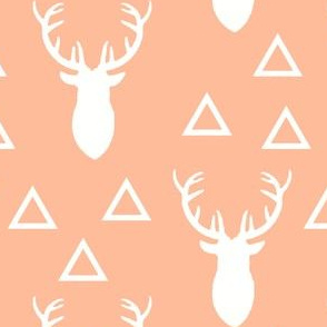 White and Pink Deer Triangles Melon