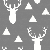 White_Deer_Triangles_Textured_Gray