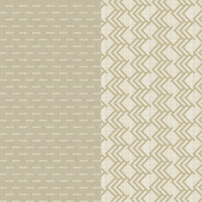 Custom Chevron & Woods half yard pattern