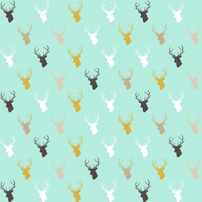 custom cyan deer half scale