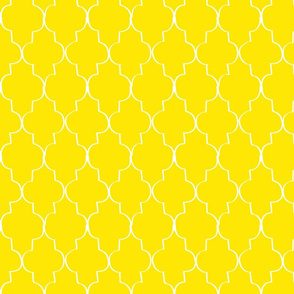 Hand Drawn Trefoil, Sunshine Yellow
