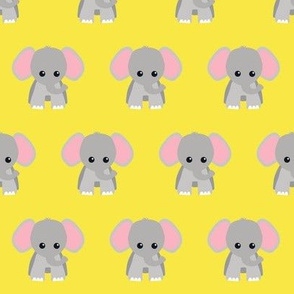 Baby Elephant Yellow