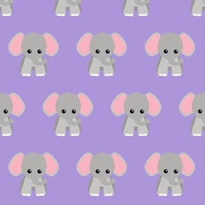 Baby Elephant Purple