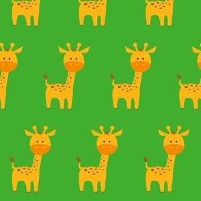 Curious Giraffe Green