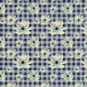 Grown Gingham in Navy