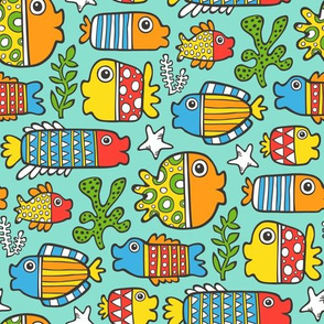 fish with geometric  pattern