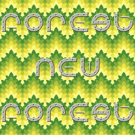 new forest pony horseshoe text