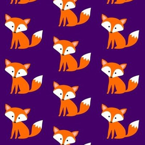 Sitting Fox Purple