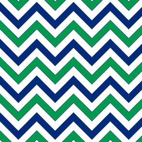 Navy & Green Chevrons