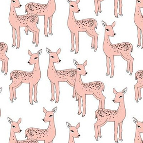 Fawn - Pale Pink on White by Andrea Lauren