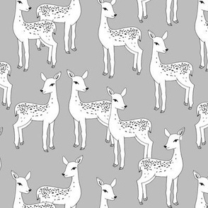 Fawn - White on Slate Grey by Andrea Lauren