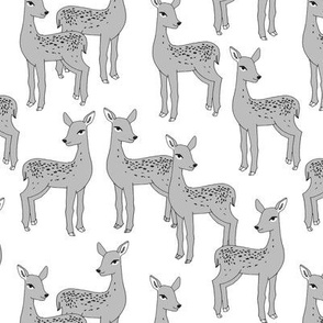 Fawn - Slate on White by Andrea Lauren