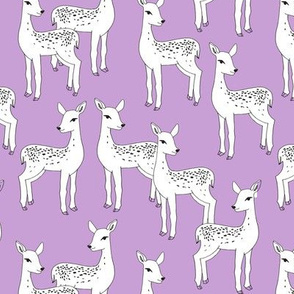 Fawn - White on Wisteria Purple by Andrea Lauren