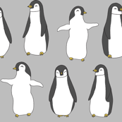 Baby Pingu - Slate Grey by Andrea Lauren