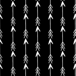 Arrows - Black and White Stripes by Andrea Lauren