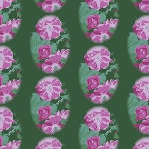 Dark Green Vintage Rose