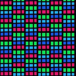 Rainbow Neon Squares