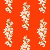 Floral Chain on orange