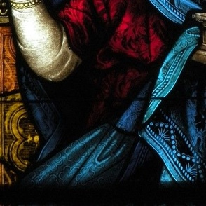 St. Cecilia on stained glass