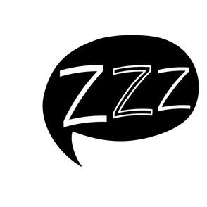 ZZZ Pillow - Black