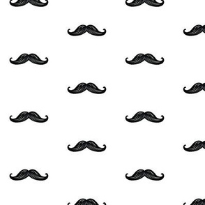 Mini Mustaches - White