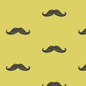 Mini Mustaches - Mustard
