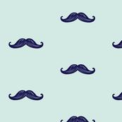 Mini Mustaches - Seafoam