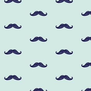 Mini Mustaches - Seafoam