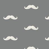 Mini Mustaches - Gray