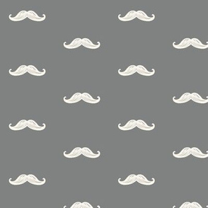 Mini Mustaches - Gray