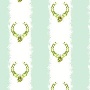 Wreath 8 Berry Sea Glass - tie dye