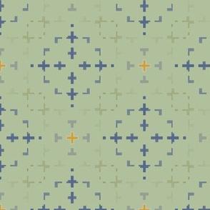 Morse Design (Celadon)