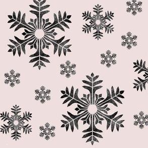 snowflakes pink