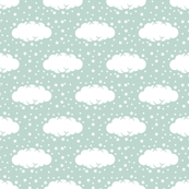 Cloud 9 Mint Clouds & Stars