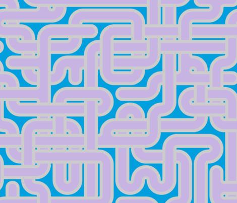 XXL custom maze - mauve, silver and blue