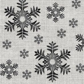 Snowflakes on linen