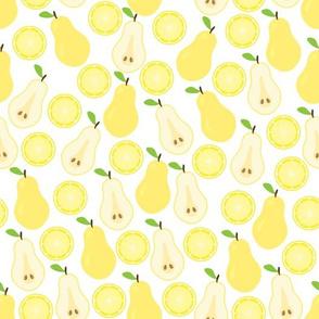 Pear and lemon