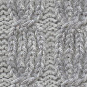 Detta Aran Cable Knit Print
