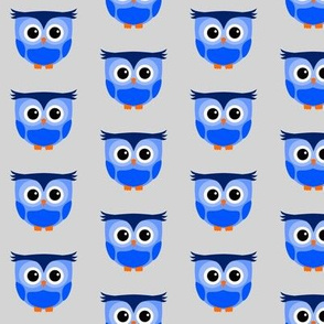 Cute Owl Blue
