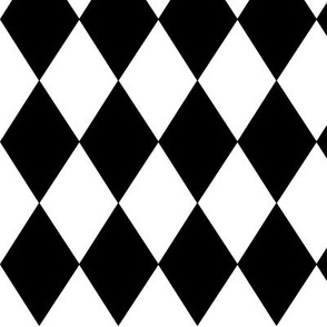 Vertical Diamond Pattern Black and White