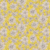 Floral Sketch Saffron