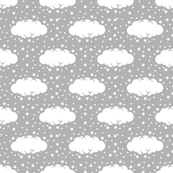 Cloud 9 Mini Grey & White  Clouds & Stars