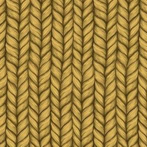 Chunky Mustard Knit Pattern