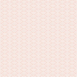 mini scallop in white and pale coral