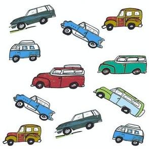 Vintage cars -Teal