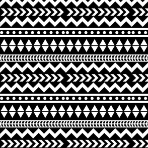 Tribal - White on Black